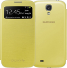 Picture of Samsung S-view Flip Cover For Galaxy S4 Yellow