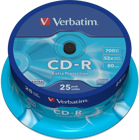 Picture of Verbatim 43432 700MB 52x Extra Protection CD-R 25 Pack Spindle