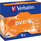 Picture of Verbatim 43519 DVD-R Matt Silver 5x