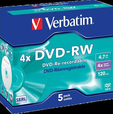 Picture of Verbatim 43285 DVD-RW Matt Silver 4x