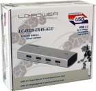 Picture of USB 3.0 Hub, 4x aluminum, LC-Power LC-HUB-EX4S-ALU, silver