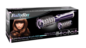 Picture of Babyliss AS551E Hair Brush Purple & Silver
