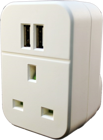 Picture of Energenie Dual 3.1A USB Mains Charger with UK Socket Compatible with Smartphones, iPhones, Android, Tablets, and MP3 Devices