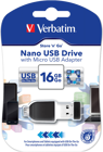 Picture of Verbatim 49821 Nano USB Drive 16GB