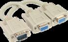 Picture of InLine 17307 VGA splitter - VGA male to 2 VGA female