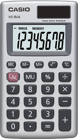 Picture of Casio HS-8VA  Αριθμομηχανή τσέπης 8 ψηφίων.