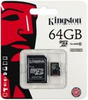 Picture of Kingston SDC10/64GB Κάρτα μνήμης microSDHC 64GB Class 10
