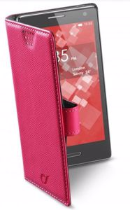 """Picture of CellularLine Θήκη BOOK UNI - SMARTPHONES UP TO 4.2""""  - pink"""