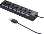 Picture of Gembird USB 2.0, Power Hub 7-θυρών με διακόπτη, μαύρο