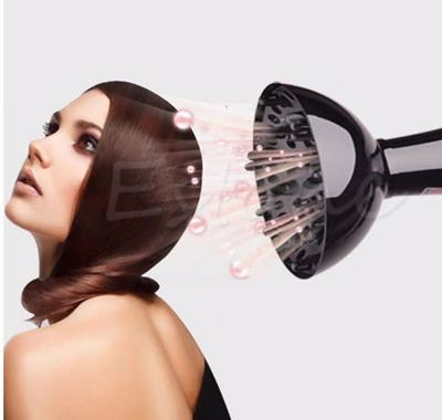 Hair Dryer Universal Diffuser Blower Μαύρο