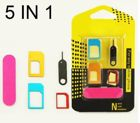5 in 1 Nano Sim Card Adapters