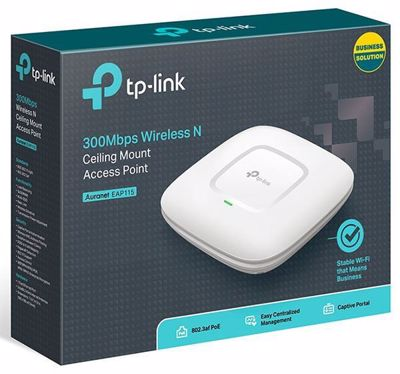 TP-LINK 300Mbps Wireless N Access Point Οροφής V1.0 (EAP115) EAP115
