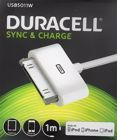 Duracell USB5011W Sync/Charge Cable for 30pin iPhone/iPods