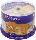 Verbatim DVD-R 4.7GB 16x Full Face Printable Cakebox 50 – 50τεμ.