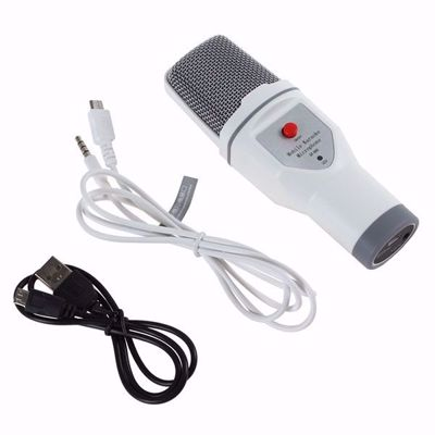 SF - 690 Concise Wired Mobile Karaoke Microphone for Chatting / Singing / PC