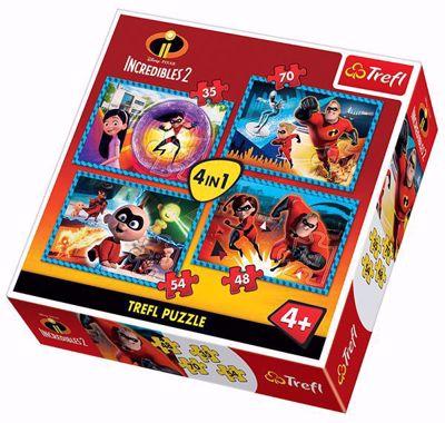 Trefl 4in1 Puzzle - Disney Pixar INCREDIBLES 2