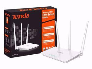 Tenda F3 300Mbps Wireless Router WiFi Repeater - άσπρο