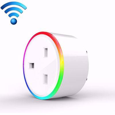 SMARTPLUG 10A RGB Scene Light WiFi Remote Control Smart Socket Works with Alexa & Google Home, UK Plug