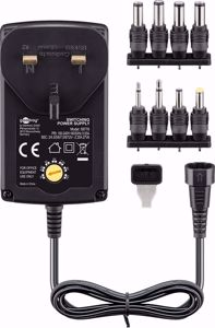 Goobay 3 V - 12 V Universal Power Supply incl. 1 USB and 8 DC adapter - max. 3.6 W and 0.3 A