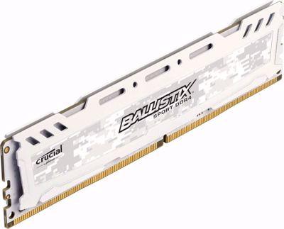 Ballistix 8GB Sport LT Series DDR4 2666 MHz SR UDIMM Memory Module (White)