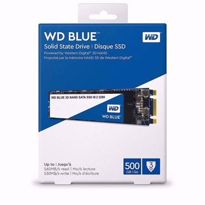WD Blue 3D NAND 500GB PC SSD - SATA III 6 Gb/s M.2 2280 SSD