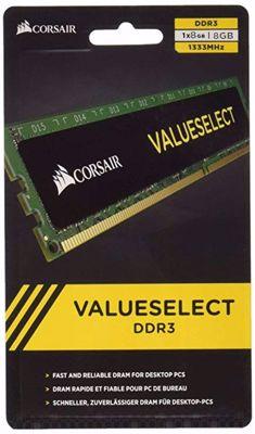 Corsair Value Select 8GB (1X8GB) DDR3 1333MHz