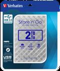 "Verbatim Store 'n' Go 2TB Portable HDD - 2.5"" USB 3.0 Ασημί"
