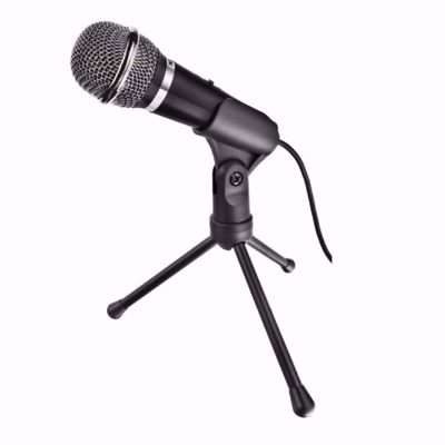 Portable Wire Microphone for Computer with Stand