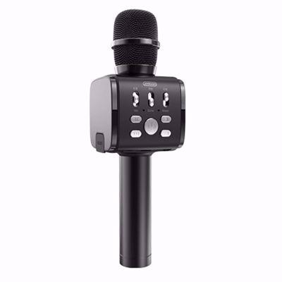 JOYROOM JR-MC3 Handheld Wireless Bluetooth Microphone with Cell Phone Holder - Black