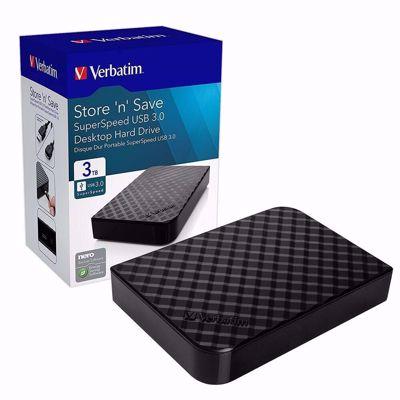 Verbatim Store 'n' Go 3TB 3.5″ USB3.0 εξωτερικός σκληρός δίσκος ( 47684 )
