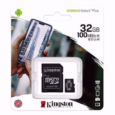 KINGSTON Canvas SDCS2/32GB Κάρτα μνήμης 32GB microSDXC + SD adaptor
