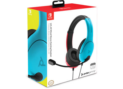 Gaming Headset PDP LVL40 Wired Nintendo Switch - Blue & Red