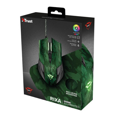 TRUST GXT781 Rixa Camo mouse with mouse pad - Gaming Ποντίκι