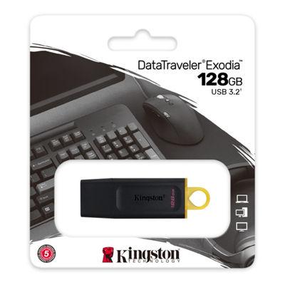 Kingston DataTraveler Exodia 128GB USB 3.2 Flash Drive Black-Teal DTX/128GB