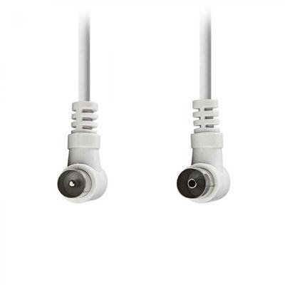 Nedis Csgp40100wt50 Καλώδιο κεραίας RF αρσ. γωνία - RF θηλ. γωνία, 90dB, 5.0m σε άσπρο χρώμα.