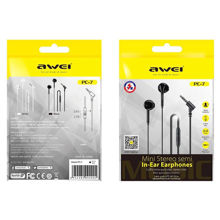 Awei PC-7 Ακουστικά In-ear Handsfree Μαύρο