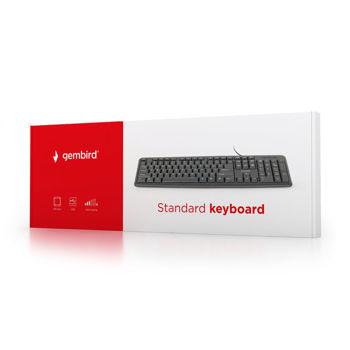 GEMBIRD Πληκτρολόγιο, USB, Ελληνικό layout, μαύρο