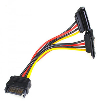 Inline SATA power Y cable for SATA HDDs and drives