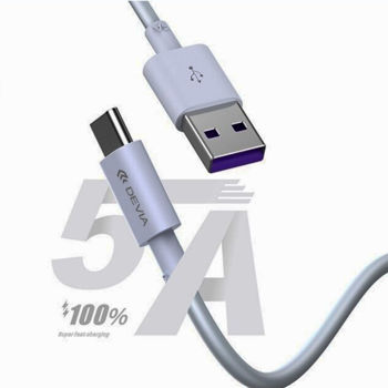DEVIA Shark supercharge USB to TYPE-C Cable full compatible (5A,1.5M)