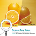 """PULUZ 6.2"""" 16cm Dimmable 8-color RGBW LED Circular Photography Light"""