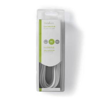 Nedis Coax Cable 90dB IEC (Coax) Male to IEC (Coax) Male 5m White - Καλώδιο κεραίας αρσενικό αρσενικό 5m CSGB40200WT50