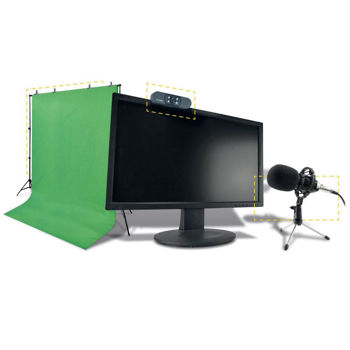 STEELPLAY - PRO HD STREAMERS 4 IN 1 PACK - MIC+CAM+SCREEN+TRIPODS