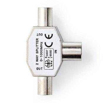 NEDIS CSGP40951ME Μεταλλικός Διακλαδωτής RF TV 1 Αρσενικό σε 2 Θηλυκά