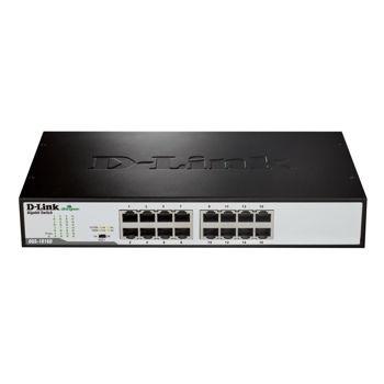 D-Link 16‑Port Gigabit Unmanaged Desktop Switch DGS‑1016D