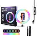 MJ33 Selfie Ring Light – 30cm – LED – RGB