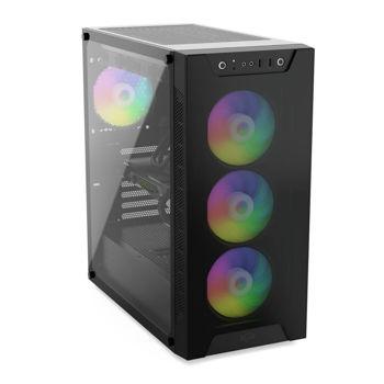 SilentiumPC Armis AR6X EVO TG ARGB Full-Tower Black,Transparent