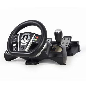 GEMBIRD STR-M-01 Αγωνιστικό τιμόνι για PC/PS3/PS4/Switch