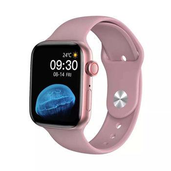 BreeZy HW22 SERIES 6 BLUETOOTH Smartwatch  (Pink Strap, Free Size)