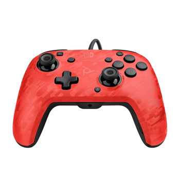 Pdp Faceoff Deluxe+ Audio Nintendo Switch Controller - Χειριστήριο - RED Camo