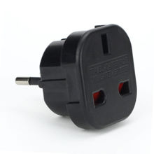 Premium UK TO EU Travel Wall Adapter Power Plug 3 TO 2 Pin